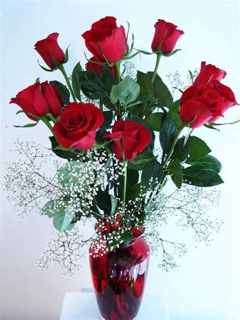 Vase Of Roses by One Dozen Stem Roses In Vase Wilbe Bloomin