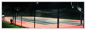 outdoor court lighting components basketball courts net systems rebounder fence light