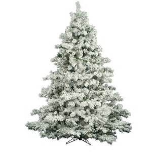 6 5 foot flocked alaskan christmas tree unlit a806365