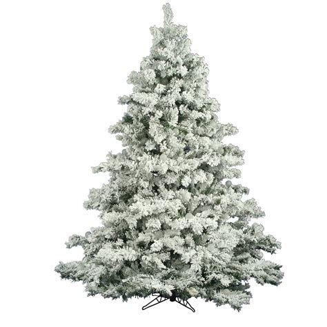 7 5 foot flocked alaskan christmas tree unlit a806375