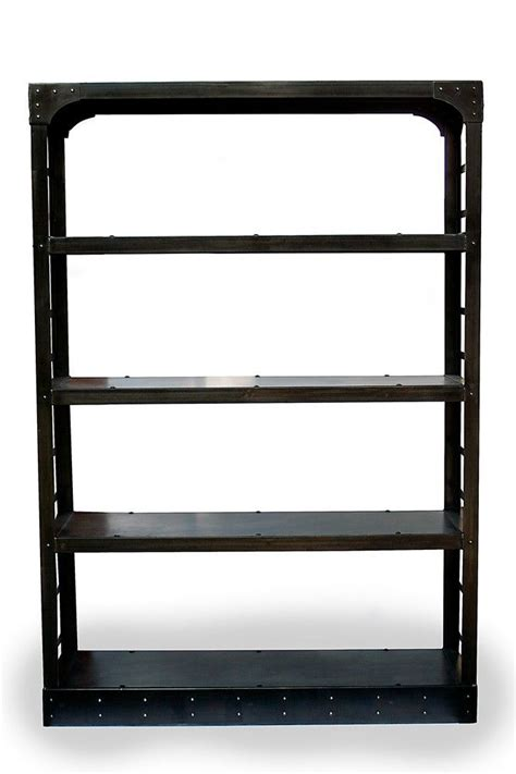 custom industrial steel bookshelf room divider home