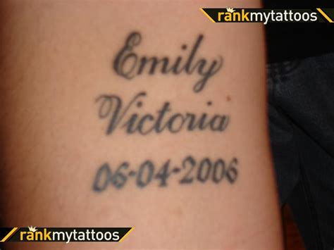 name and date of birth tattoo designs name and birth date design arm tattoomagz