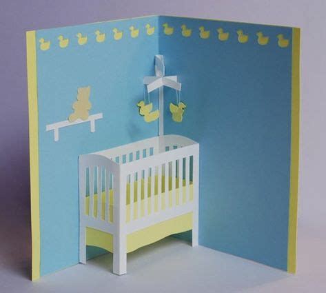 Pop Up Crib Card Template by Card Ideas On 1177 Pins