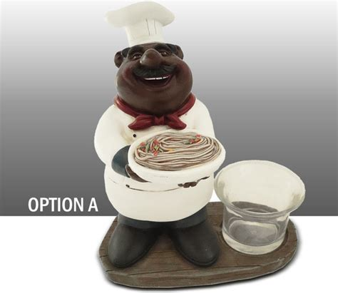 Black Chef Kitchen Decor by Black Chef Kitchen Figure Votive Candle Holder Table