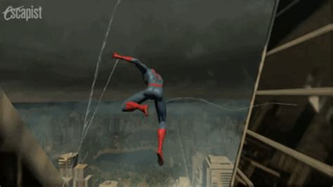 swinging man game spider man gif find share on giphy