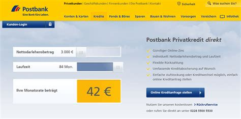 postbank privatkredit zinsen postbank kredit zinsen konditionen testberichte