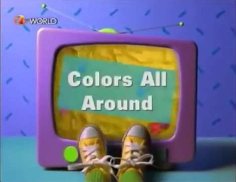 barney colors all around colors all around episode barney wiki