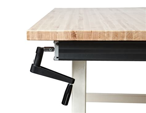 crank adjustable height industrial workbenches