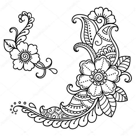 henna tattoo ursprung henna blume hennatattoo blume vorlage im