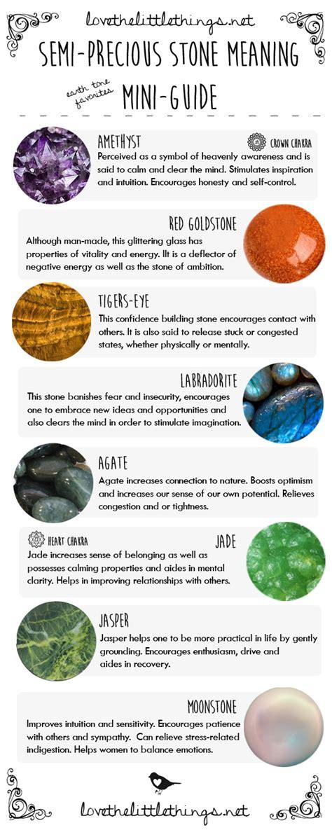 semi precious meaning mini guide earth tone