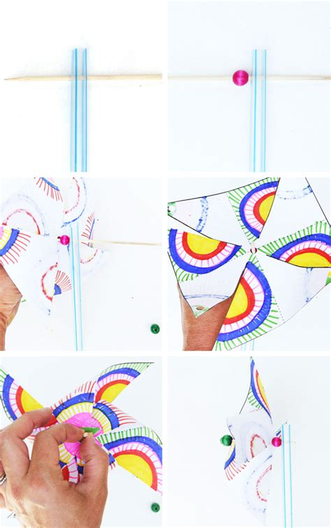 Easy Crafts To Make For Your Room - kids paper crafts op art pinwheels babble dabble do