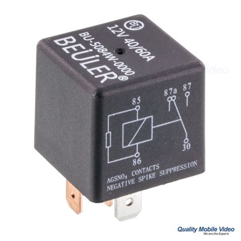 beuler bu5084w waterproof 12 vdc automotive 5 pin relay