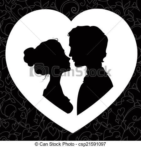 imagenes blanco y negro romanticas stock de ilustraciones de siluetas pareja amoroso