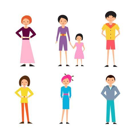 imagenes vectoriales personas conjunto de vectores de personas de dibujos animados
