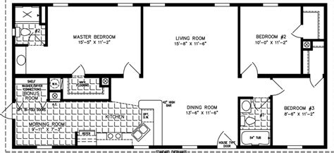 1500 Square Foot Ranch House Plans 1200 to 1399 sq ft manufactured home floor plans