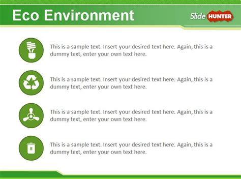 environmental sustainability report template free eco environment powerpoint template
