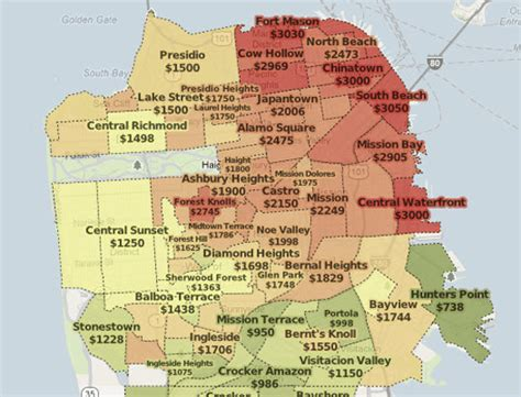 san francisco rental map trulia mapping rents hazards