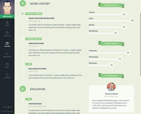 premium layers html vcard resume template empathy a vcard theme premium resumes