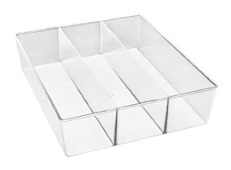 whitmor drawer organizer whitmor 6789 3065 3 section clear drawer organizer