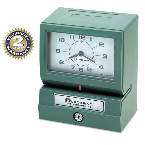 printable clock model model 150 heavy duty analog automatic print time clock by