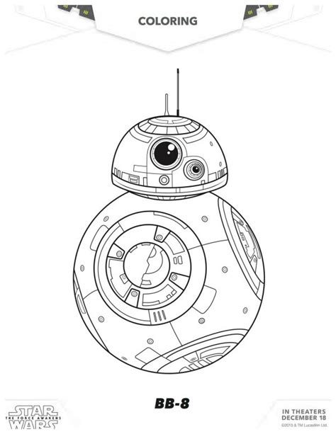 star wars bb 8 coloring pages star wars the force awakens bb 8 coloring page mama