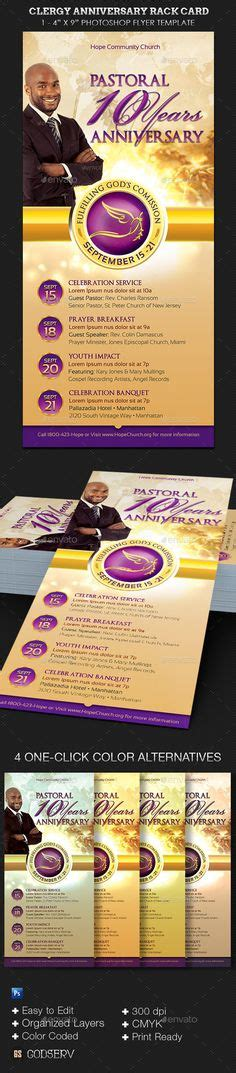 anniversary card templates for photoshop pastor anniversary program template harvest 7 00 the