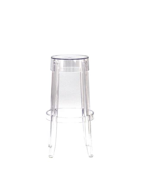 Clear Stool by Clear Acrylic Barstool Brickell Collection Modern