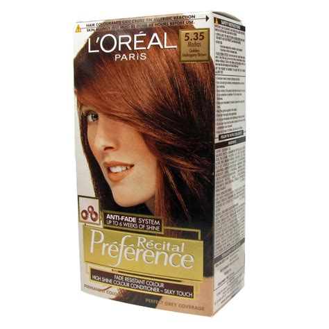 loreal hair dye colors l oreal recital preference permanent hair color 535