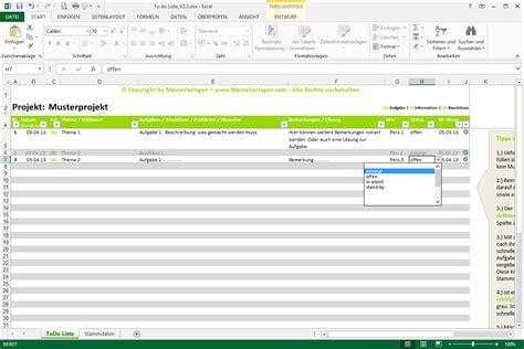 Word Vorlage In Onenote To Do Liste Excel Vorlage Pendenzenliste Aufgabenliste Muster F 252 R Projekte Meinevorlagen