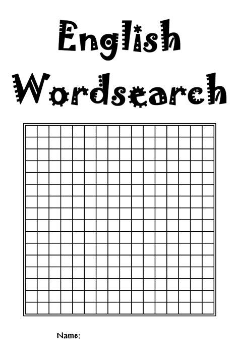printable word search blank template