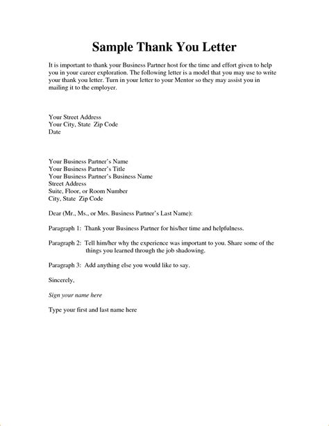 Business Letter Format To Your sle thank you for your time business letter cover