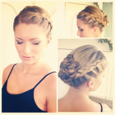 Recital Hairstyles by My Up Do For My Recital Braided On Both
