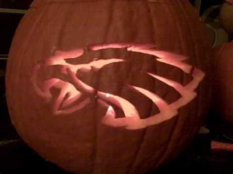 eagles pumpkin mojo jack o lantern youtube