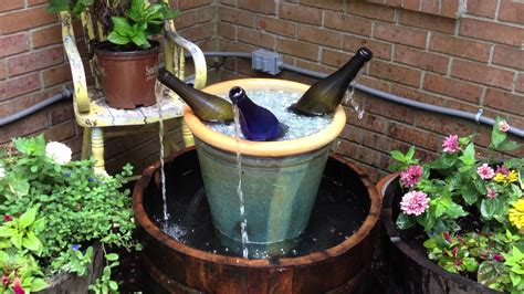 Waterfall Decoration For Homes whiskey barrel wine bottle fountain youtube