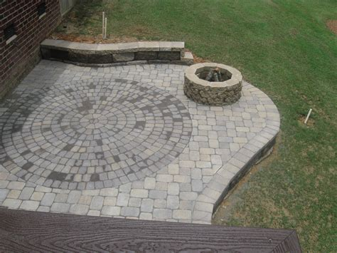 stone backyard patio firepits and patios make great outdoor living space in