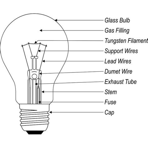 electric bulb diagram electric light bulb schematic get free image about