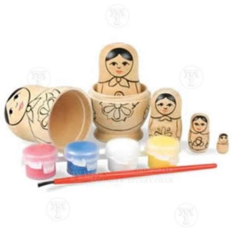 paint your own dolls house nesting doll painting set discontinued
