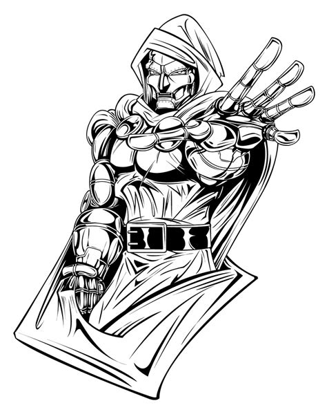 doctor doom coloring page dr doom by micha81 on deviantart