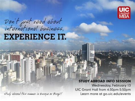 Mba Programs With Study Abroad Options by Uic Business