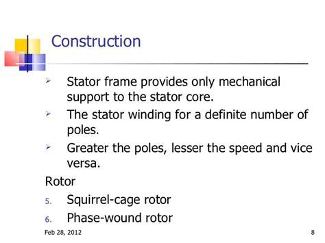 induction motor construction induction motor construction
