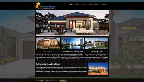 home design ideas website select building website design house website design