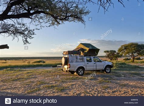 4x4 awnings south africa 4x4 car with roof tent in landscape of kgalagadi
