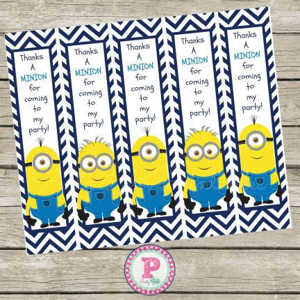 printable bookmarks minions 7 best images of minion bookmarks printable despicable