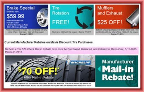Mavis Tires Printable Coupons mavis discount tire deals and offers