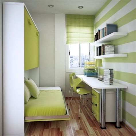 Small Bedroom Home Office Ideas Neat Green Home Office In Small Bedroom Design Ideas