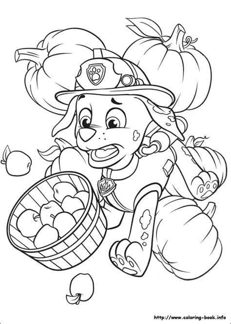 Paw Patrol Thanksgiving Coloring Pages To Print | marshall thanksgiving paw patrol coloring page zac