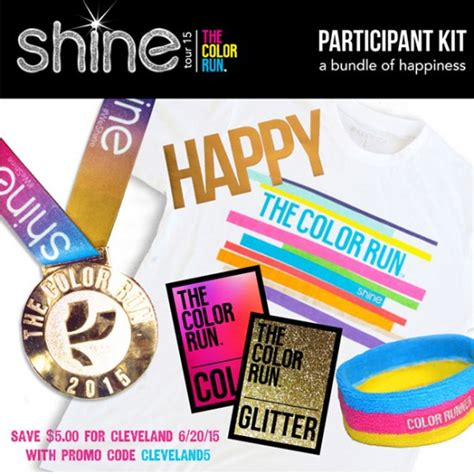 color run coupon code the color run shine tour is coming to cleveland