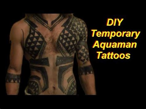 aquaman tattoo diy aquaman tattoos temporary and