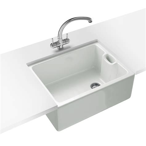 White Kitchen Sink Franke Belfast Propack Bak 710 Ceramic White Kitchen Sink And Tap 130 0050 116