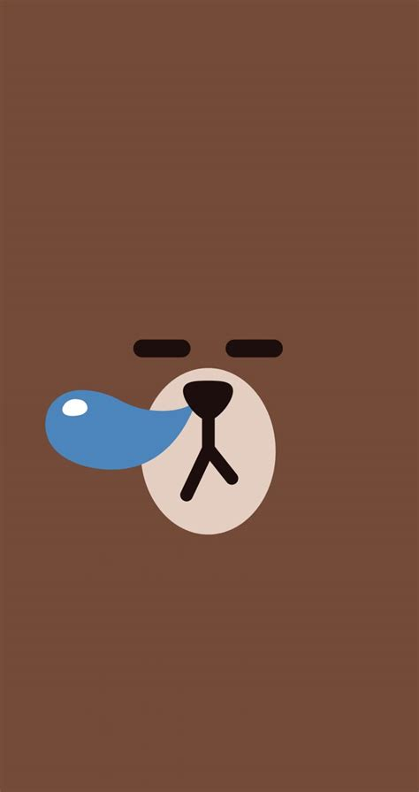 Line Friends Brown wallpaper line friends wallpaper and